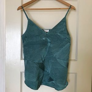 NWT Anthro Floreat Textured Cami in Green